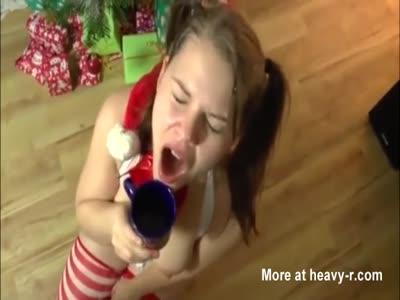 Piss drinking girl